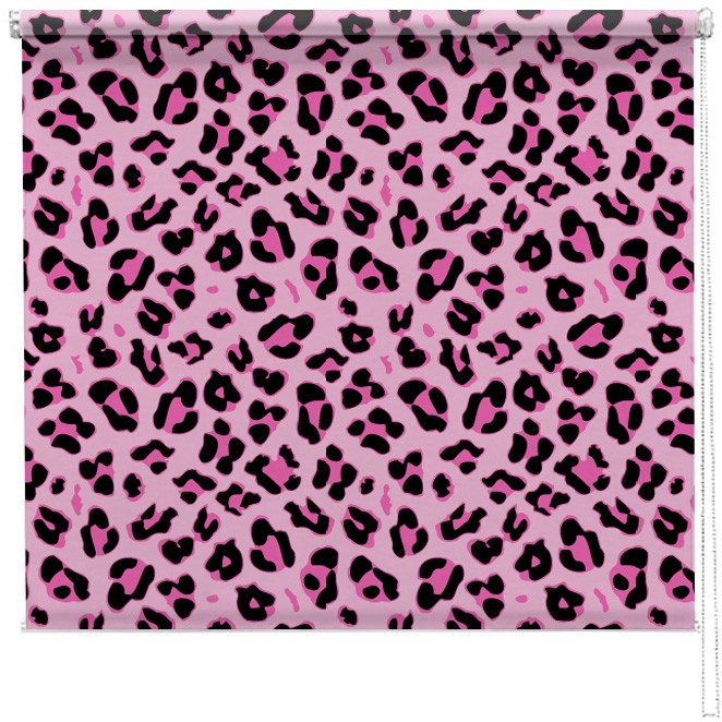 Pink Leopard print blind | Picture printed Blinds at ...