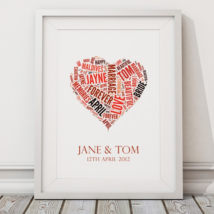 Personalised Family Tree Live Laugh Love Print Canvas