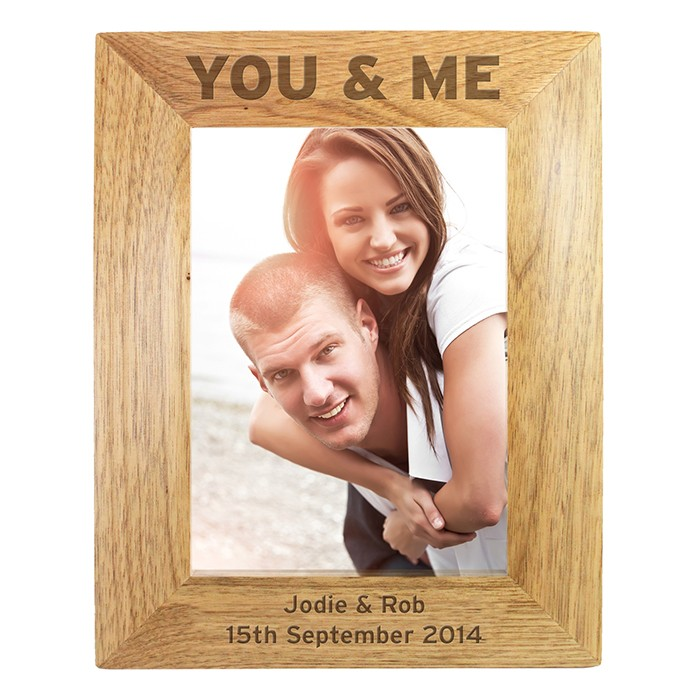 Personalised You Me 6x4 Wooden Frame