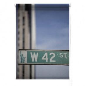 42nd Street New York printed blind