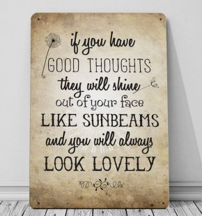 canvas, art, print, words, typography, frame, gift, metal, sign, plaque, wall art, roald dahl, quote, adventure, good thoughts, the twits, mr fox, dahl, reading, books, fantasy, children's book, lovely