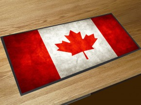 Canadian Flag bar runner mat