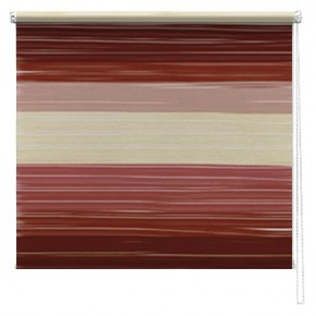 Chocolate abstract printed roller blind