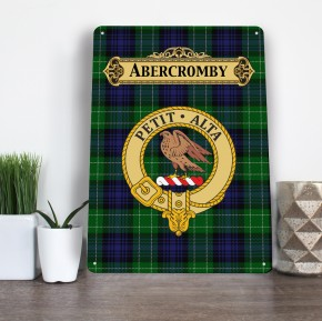 Scottish Clan, family name, tartan aluminium A4 metal sign wall art *MANY CLANS*