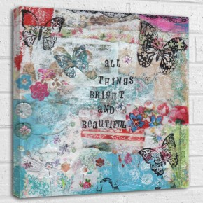 all things bright and beautiful quote canvas