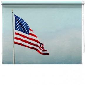 Stars and stripes flag blind