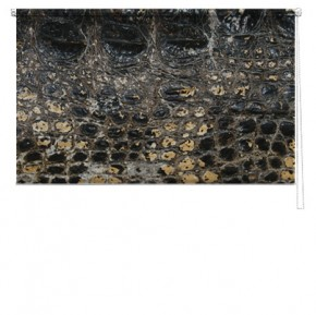 Crocodile skin printed blind