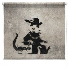 Banksy graffiti printed blind Pimp Rat