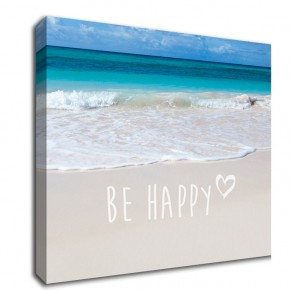 Be Happy inspirational Canvas Art