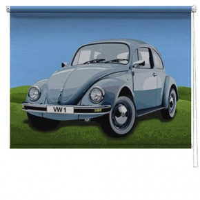 VW Beetle car printed blind
