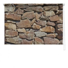 Stone wall printed blind