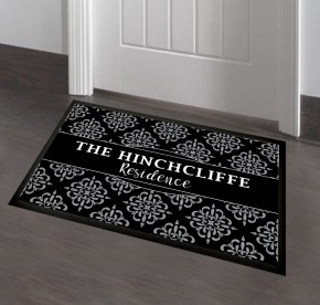 Personalised floral door mat