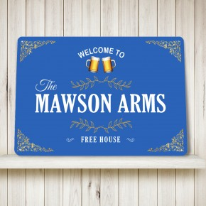 Personalised Bar Sign flourish