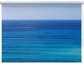 Blue sea printed blind