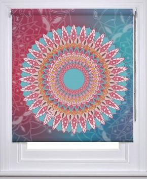 Mandala Pink blue printed blind