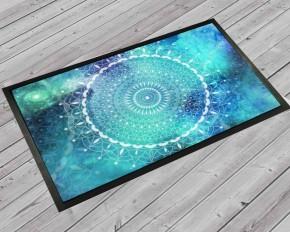 Mandala boho aqua door mat
