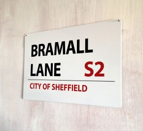 Bramall Lane City of Sheffield Street Sign