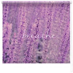 'Breathe' Lavendar printed blind