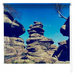 Brimham Rocks formation printed blind