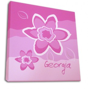 Personalised flower childrens canvas art
