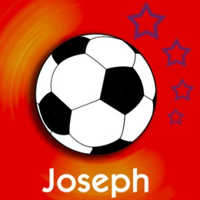 Personalised football childrens canvas art