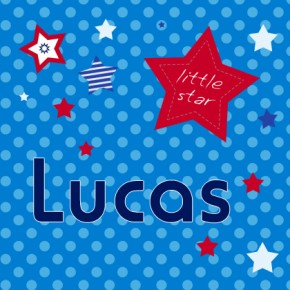 Personalised little star childrens canvas art