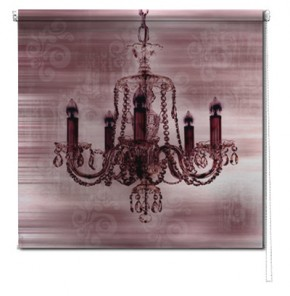 Chandelier printed blind