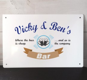 Personaised Bar Cheap Beer Metal Sign