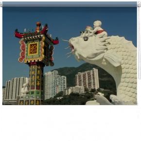 Chinese Dragon printed blind