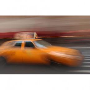 new york cab canvas art