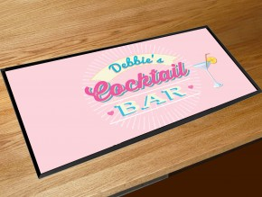 Personalised Cocktail bar runner