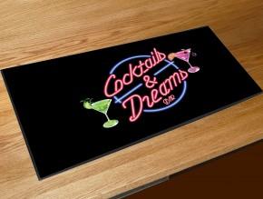Cocktails and Dreams bar runner mat