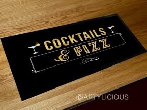 Cocktails & Fizz bar runner mat
