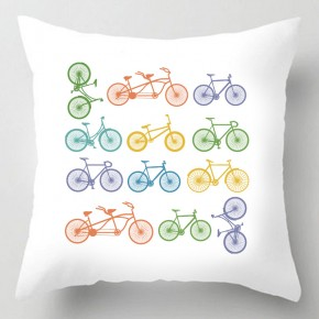 Bicycle illustration cushion