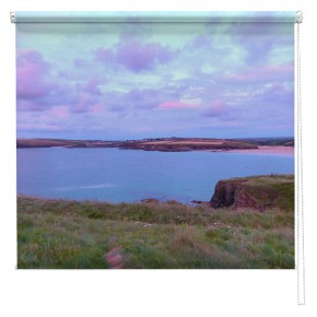 Cornwall blue sunset UK printed blind