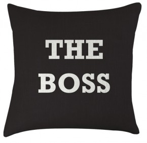 The Boss typography cushion