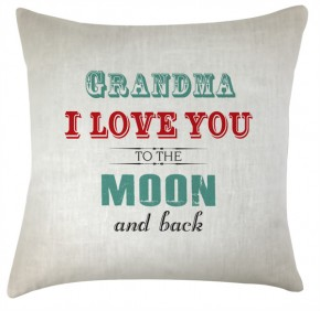 grandma Love you to the moon cushion
