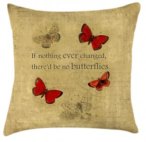 Vintage Butterflies cushion