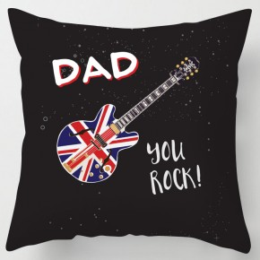 Dad you Rock fathers day cushion