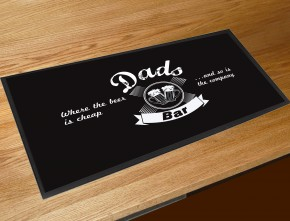 Dads bar runner mat, great fathers day gift idea