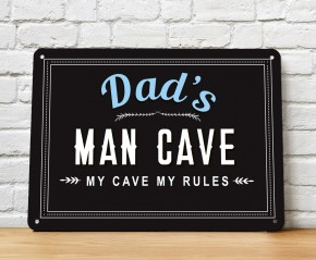 Dad's Man Cave wall metal sign