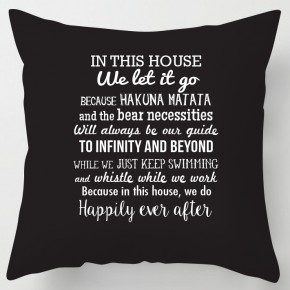 In this House we do..disney inspired quotes cushion