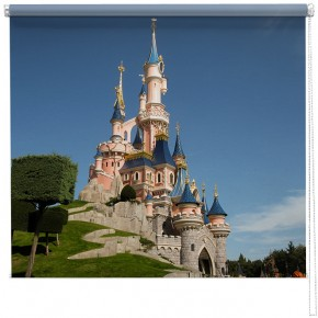 Disney castle printed blinds