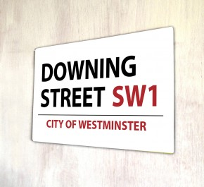 Downing Street London metal Street sign