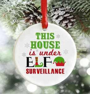 Under Elf Surveillance christmas decoration