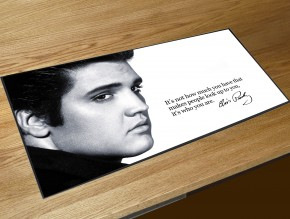 Elvis Presley quote bar runner mat