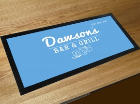 Personalised Bar & Grill name bar runner mat
