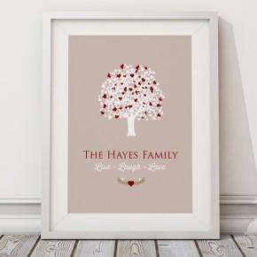 Personalised Family tree print