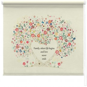 Family quote tree printed blind