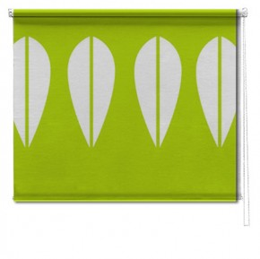 Green Retro Lotus printed roller blind